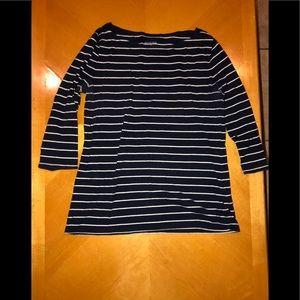 🦋Navy Blue Striped Shirt🦋